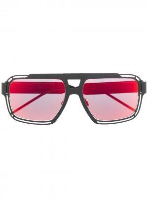 Солнцезащитные очки-авиаторы с логотипом DG Dolce & Gabbana Eyewear. Цвет: серый