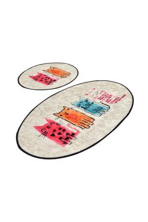 Комплект ковриков для ванной Chilai Home. Цвет: оранжевый