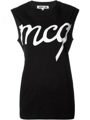 Майка с принтом логотипа McQ Alexander McQueen. Цвет: чёрный