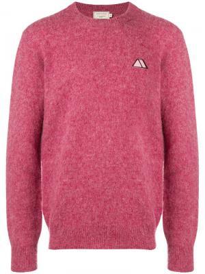 Пуловер с начесом Maison Kitsuné. Цвет: розовый
