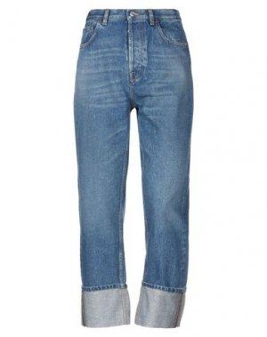 Джинсовые брюки VALENTINO. Цвет: синий