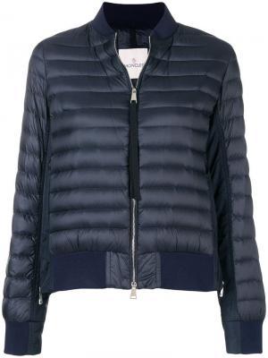 Пуховая куртка-бомбер со вставками Moncler