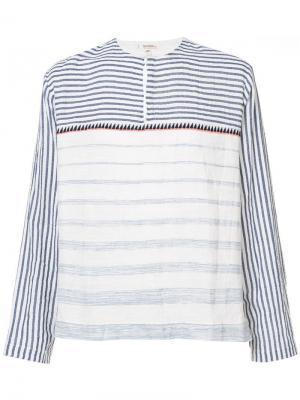 Пуловер в полоску Lemlem. Цвет: белый