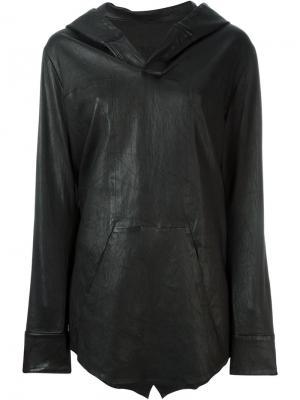 Кожаная куртка-кейп Rta. Цвет: чёрный