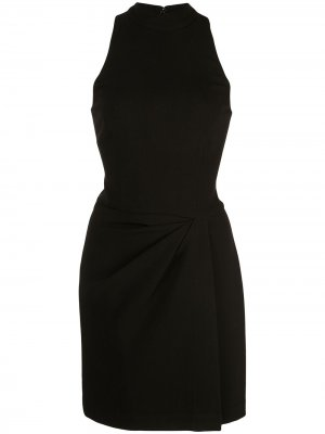 Платье мини с драпировкой Halston Heritage. Цвет: черный