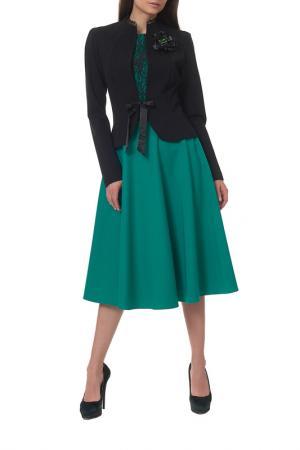 Жакет с платьем Mannon. Цвет: черный, зеленый