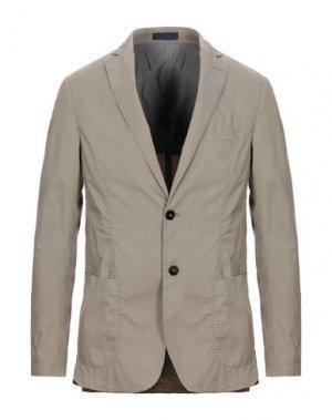 Пиджак FUTURO. Цвет: голубиный серый