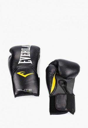 Перчатки боксерские Everlast Elite ProStyle. Цвет: черный