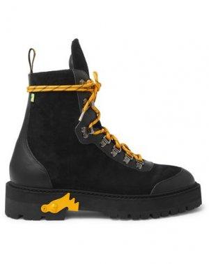 Полусапоги и высокие ботинки OFF-WHITE™. Цвет: черный