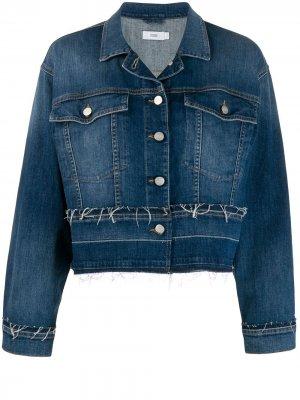 Джинсовая куртка с бахромой Closed. Цвет: синий
