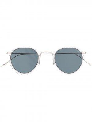 Солнцезащитные очки 717 в круглой оправе Eyevan7285. Цвет: золотистый