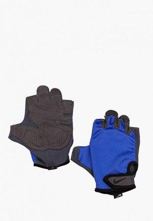 Перчатки для фитнеса Nike MENS ESSENTIAL FITNESS GLOVES. Цвет: синий