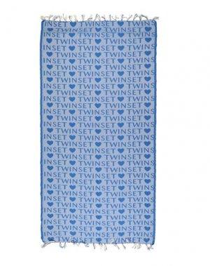 Пляжное полотенце TWINSET. Цвет: лазурный