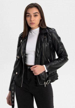 Куртка кожаная Asia st 71. Цвет: черный