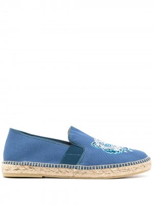 Эспадрильи с вышивкой Kenzo. Цвет: синий