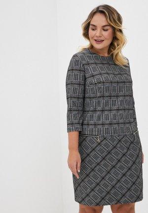 Платье Forus. Цвет: серый