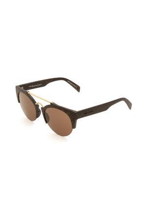 Очки солнцезащитные Italia Independent. Цвет: wal 120 черный матовый, медный