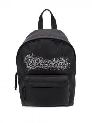 Рюкзак с логотипом Vetements. Цвет: черный