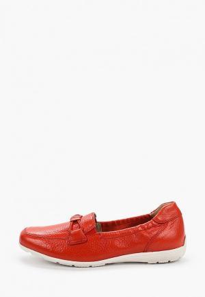 Мокасины Caprice. Цвет: красный