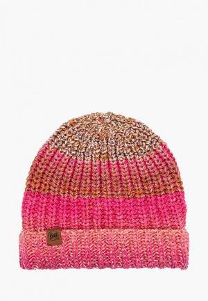 Шапка Buff Knitted & Fleece Hat Olya. Цвет: розовый