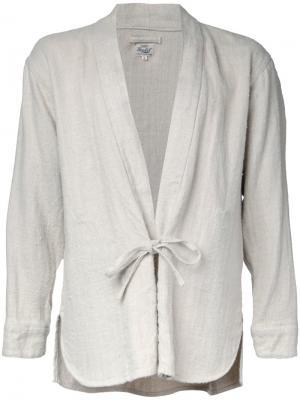 Рубашка-кимоно Herringbone Gold / Toyo Enterprise. Цвет: телесный