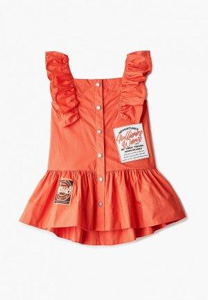 Платье Gulliver. Цвет: оранжевый