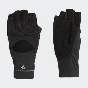 Перчатки для фитнеса by Stella McCartney adidas. Цвет: черный