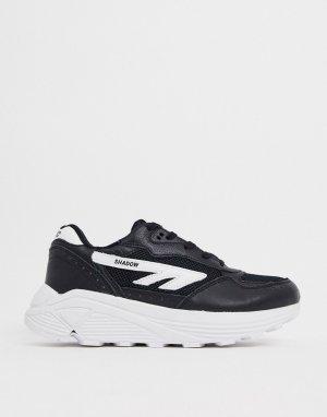 Черно-белые кроссовки с подошвой Vibram от Shadow RGS-Бежевый Hi-Tec