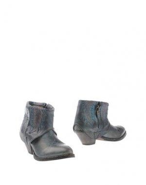 Полусапоги и высокие ботинки HTC. Цвет: грифельно-синий