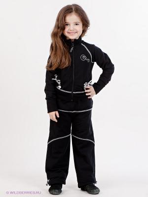 Спортивный костюм Arina Ballerina. Цвет: черный