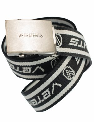 Текстильный ремень с лого Vetements