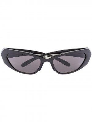 Sport shield-frame sunglasses Balenciaga Eyewear. Цвет: черный