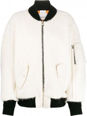 Куртка-бомбер оверсайз Laneus. Цвет: белый