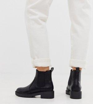 Черные массивные ботинки челси -Черный New Look Wide Fit