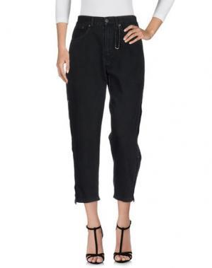Джинсовые брюки-капри NEVERSAME. Цвет: стальной серый