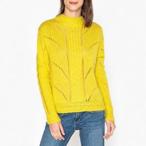 Пуловер из оригинального трикотажа MAEL BERENICE. Цвет: желтый