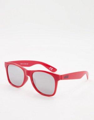 Красные солнцезащитные очки с плоскими дужками -Красный Vans