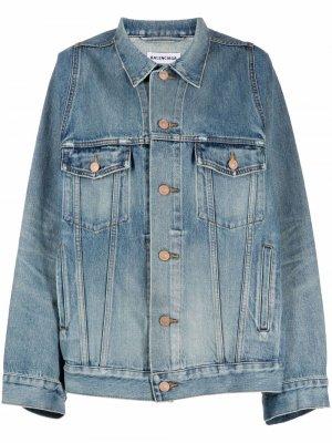 Джинсовая куртка с широкими рукавами Balenciaga. Цвет: синий