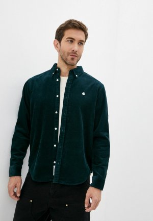 Рубашка Carhartt WIP Madison. Цвет: зеленый