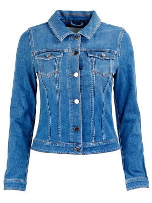 Джинсовая куртка Hugo Boss. Цвет: синий