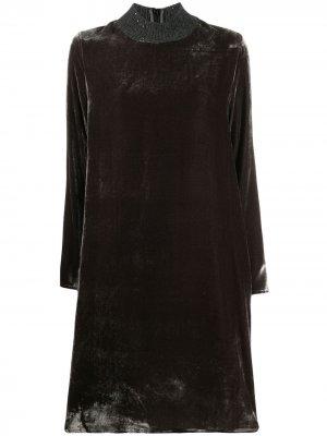 Короткое платье-трапеция с длинными рукавами Fabiana Filippi