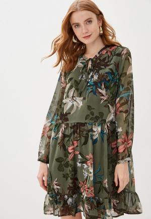 Платье b.young. Цвет: зеленый