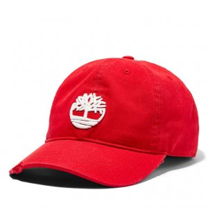 Кепки Distressed Baseball Cap with Tree Logo Timberland. Цвет: красный