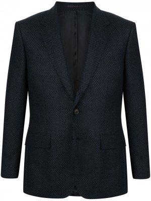 Фактурный пиджак Gieves & Hawkes. Цвет: синий