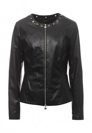 Куртка кожаная Liu Jo LI687EWOPY49. Цвет: черный