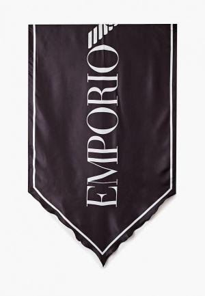 Палантин Emporio Armani. Цвет: черный