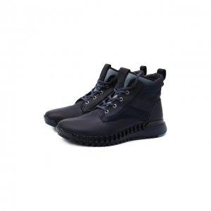 Комбинированные ботинки Stone Island. Цвет: синий
