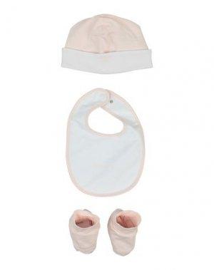Детский нагрудник EMPORIO ARMANI. Цвет: светло-розовый