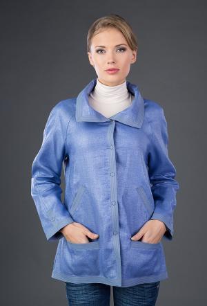 Голубая женская ветровка Visconf с потайным капюшоном Visconf/Violanti. Цвет: морская волна