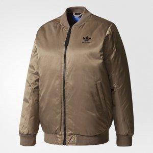 Утепленная куртка Mid Bomber Originals adidas. Цвет: коричневый